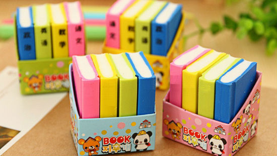 Who Would Not Be Attracted To Such A Cute Set Of Erasers And Kids Will Delighted