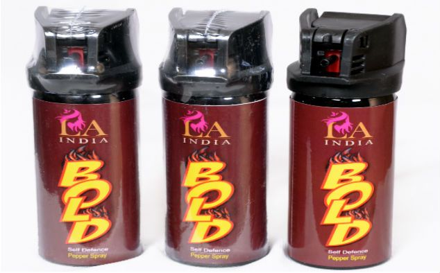 Be BOLD with this self defence pepper spray by LA India