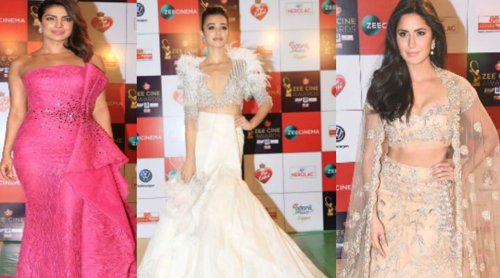 Priyanka, Katrina steal the show, Taapsee disapponts! Best and Worst Dressed at the ZEE Cine Awards