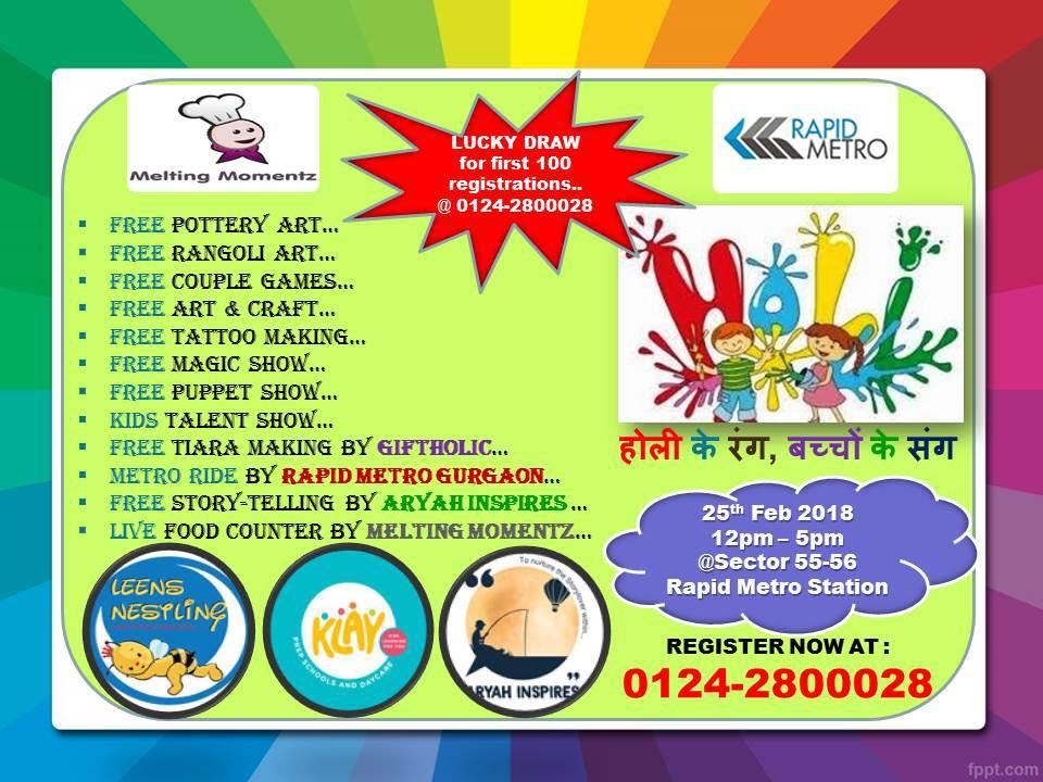 Kids Holi Special Event : Holi Ke Rang Bacho ke Sang