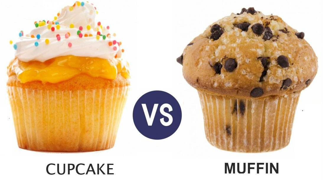 What's the difference – Cupcakes Vs Muffins?