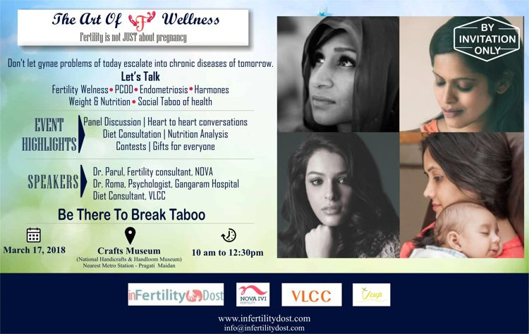 This Saturday join the Coffee Talk Event on Fertility Wellness in Delhi organized by Infertility Dost
