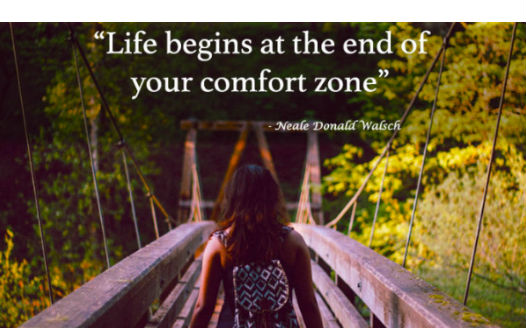 What moving out of comfort zone taught me?