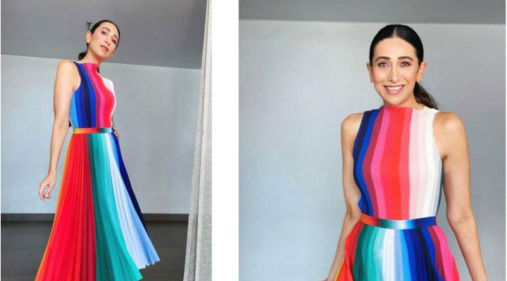 Karisma Kapoor's rainbow blouse + skirt set needs to be in your party closet