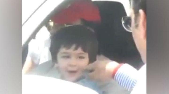 गालों को छूने पर तैमूर अली खान को आया गुस्सा, फिर शख्स से यूं लिया बदला- देखें Video