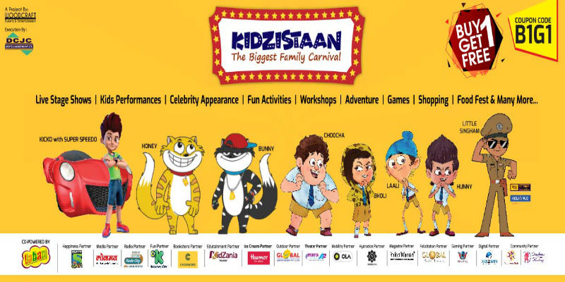 The much awaited Kids Carnival is here! Come join the fun and excitement at Kidzistaan – The Biggest Family Carnival
