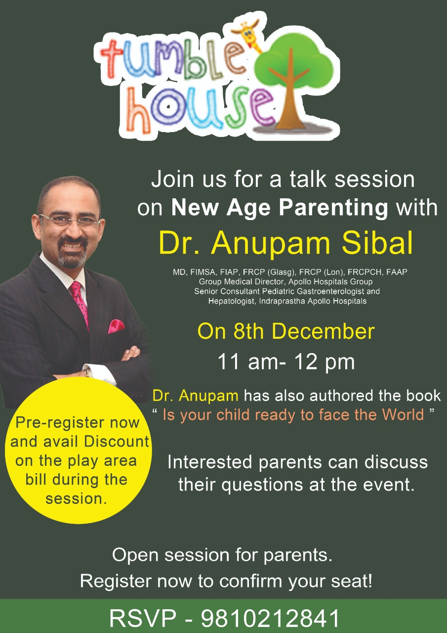 Check out this Free Expert Talk Session on New Age Parenting with Dr Anupam Sibal