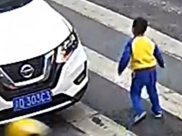 Video Of Boy Kicking Car After It Hits His Mother Wins Hearts On Internet