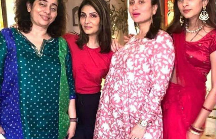 Kareena Kapoor Khan flaunts growing baby bump as she shares Karwa Chauth celebration pic