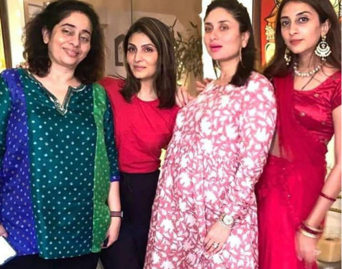 Kareena Kapoor Khan flaunts growing baby bump as she shares Karwa Chauth celebration pic