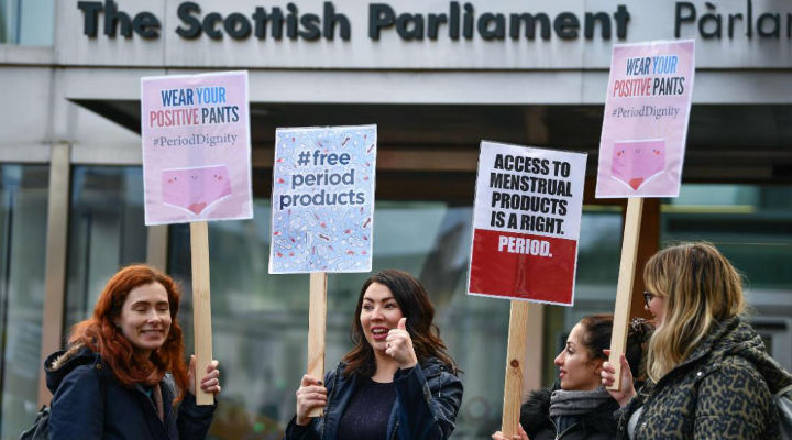 SCOTLAND BECOMES WORLD'S FIRST COUNTRY TO MAKE SANITARY PRODUCTS FREE