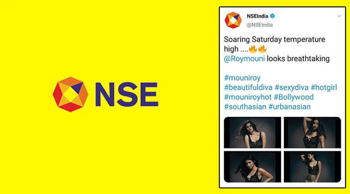 NSE Twitter handle shares Mouni Roy's pictures, issues apology after realising error