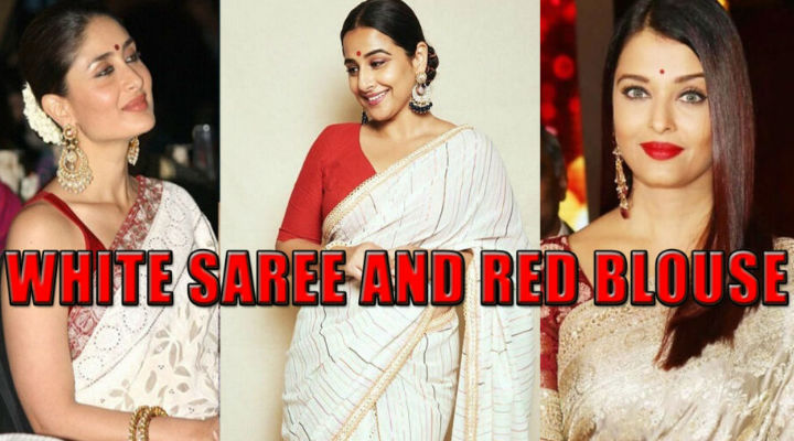 Kareena Kapoor Khan To Vidya Balan & Aishwarya Rai Bachchan: Who Has The Sexiest Looks In A Red Blouse & White Saree?