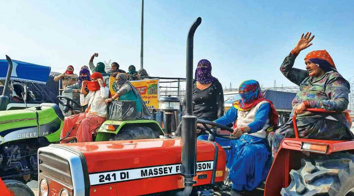 Haryana Women Take The Training Wheel To Lead Farmers' Tractor Rally