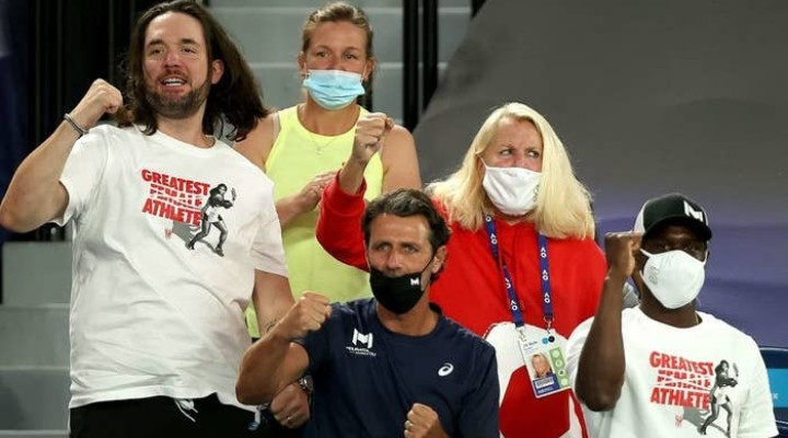 Serena Williams' Husband, Alexis Ohanian, Supported Her In The Stands With The Greatest GOAT T-Shirt