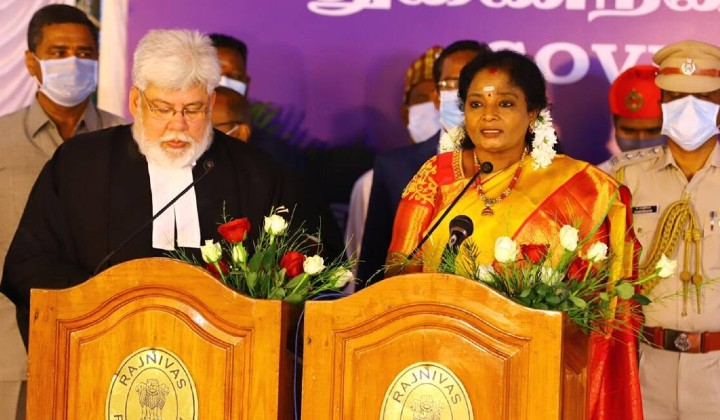 Tamilisai Soundararajan Sworn In As Lieutenant Governor Of Puducherry
