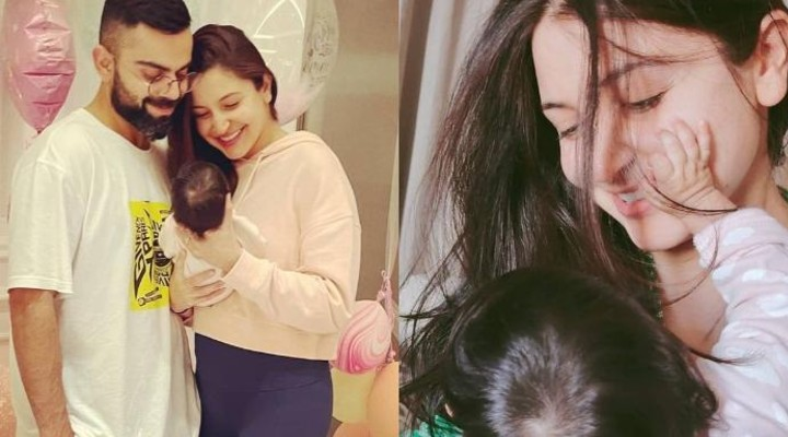 Anushka Sharma & Virat Kohli baby girl Vamika turns 2 months old; the couple celebrates with beautiful rainbow cake