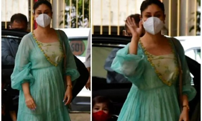 Kareena Kapoor Khan does summer dressing right in a tiered blue maxi dress and orange sandals, watch video