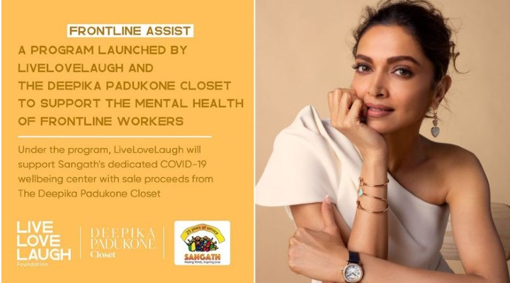 Deepika Padukone Launches Initiative For Mental Well-Being of Frontline Workers