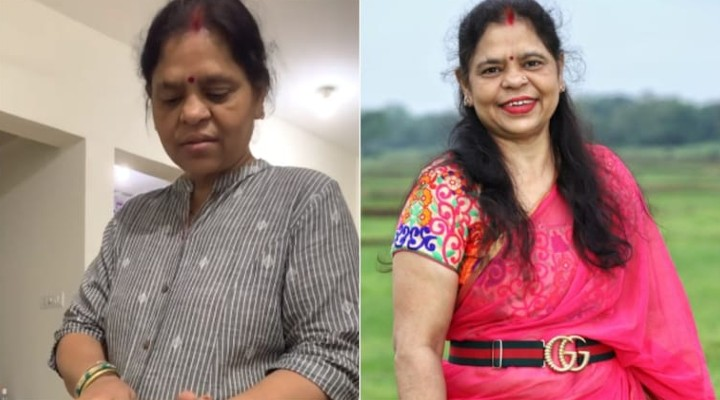Gucci Belt Mom Who Went Viral For Funny Reaction To Daughter's 35K Belt Wears It With Saree