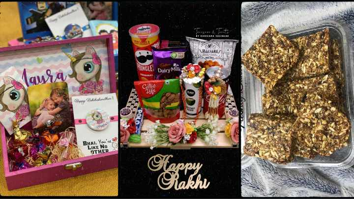 Buy Customised Rakhi Gift Hampers and Healthy Home baked sweets in Mumbai