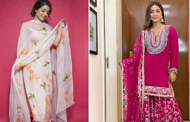 This Sawan give a modern touch to your traditional outfits, take inspiration from Hina Khan's Closet