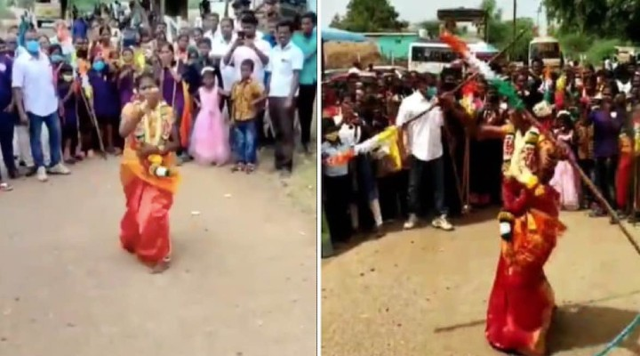 WATCH-Tamil Nadu Bride performs martial arts to spread self-defense awareness among girls