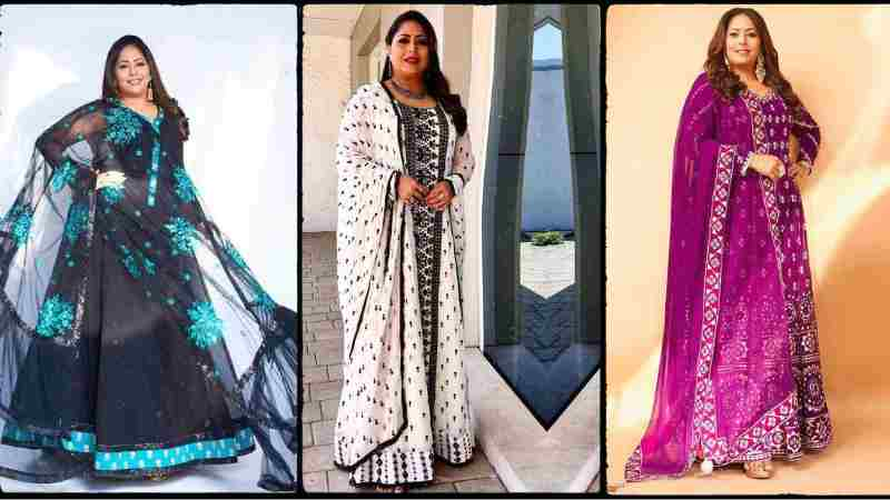 These Anarkali suits worn by Dancer and Choreographer Geeta Kapoor are perfect for women above 45