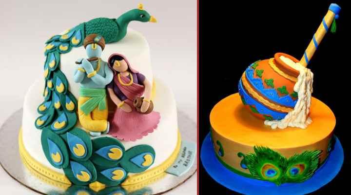 Janmashtmi Cake Design Ideas : Celebrate Lord Krishna's birthday gracefully with these customized cakes