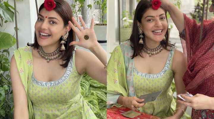 Kajal Aggarwal celebrates her first Teej after wedding, flaunts her Mehendi design!