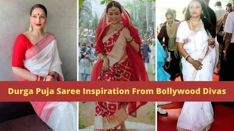 Durga Puja Saree Inspiration From Bollywood Divas