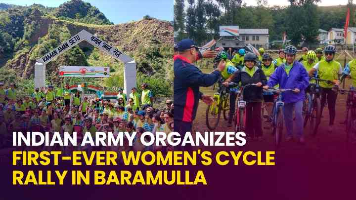 Indian Army Conducts First-Ever Women Cycle Rally To Promote Women Empowerment In Kashmir