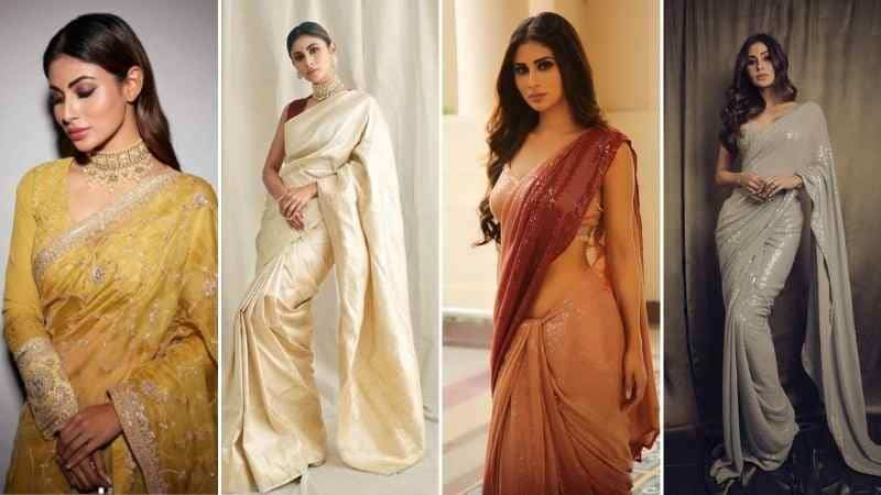 Mouni Roy's sarees are a perfect wear for the upcoming festive season