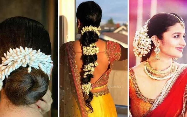 Gajra Hairstyles for Karwachauth: Try out these beautiful hairstyles with Gajra