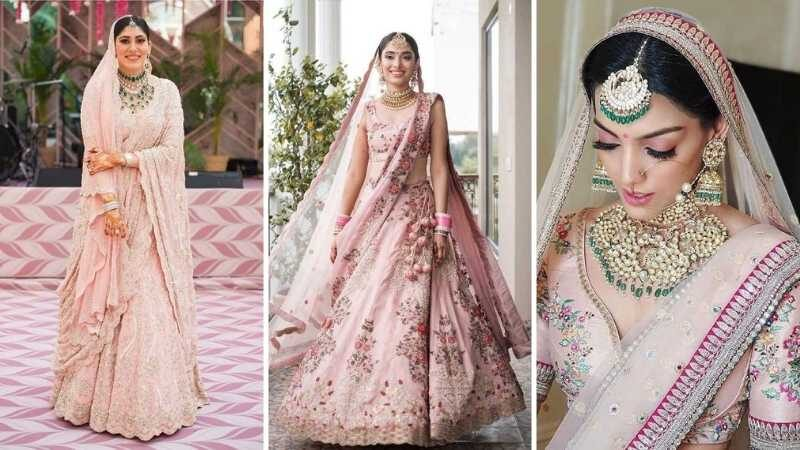 Powder Pink Bridal Lehengas are the new trend among the brides