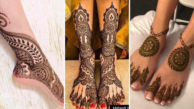 Latest Simple Foot Mehndi Designs for 2021